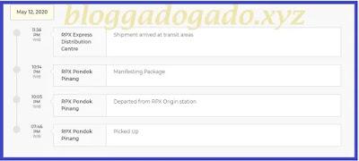 RPX Pondok Pinang -Picked Up Artinya Paket sudah di ambil dari pengirim oleh kurir RPX pondok pinang RPX Pondok Pinang - Departed from RPX Origin station artinya paket sudah diberangkatkan dari gudang asal pengirim (rpx pondok pinang) RPX Pondok Pinang - Manifesting Package artinya paket sedang dalam perjalanan atau manifesting RPX Pondok Pinang - Shipment arrived at transit areas artinya Paket/kiriman sudah sampai di area transit pondok pinang