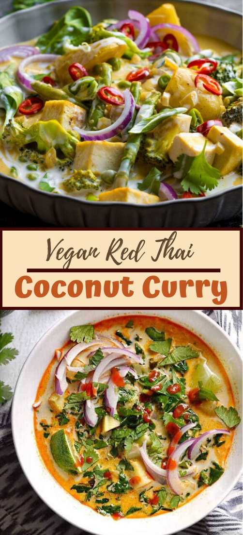 Vegan Red Thai Coconut Curry #food #lunchrecipe #vegan #vegetarianrecipe #easyrecipe