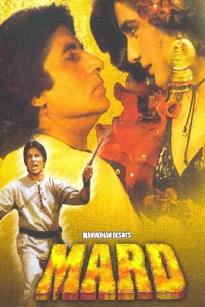 Poster Of Mard 1985 720p Hindi DVDRip Full Movie Download