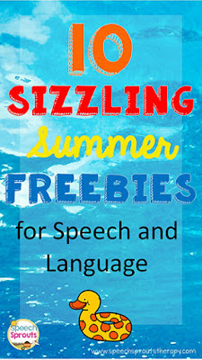 10 Sizzling Summer Freebies for Speech and Language www.speechsproutstherapy.com