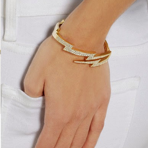Anita Ko Diamond Cuff Lightning Bolt Cut