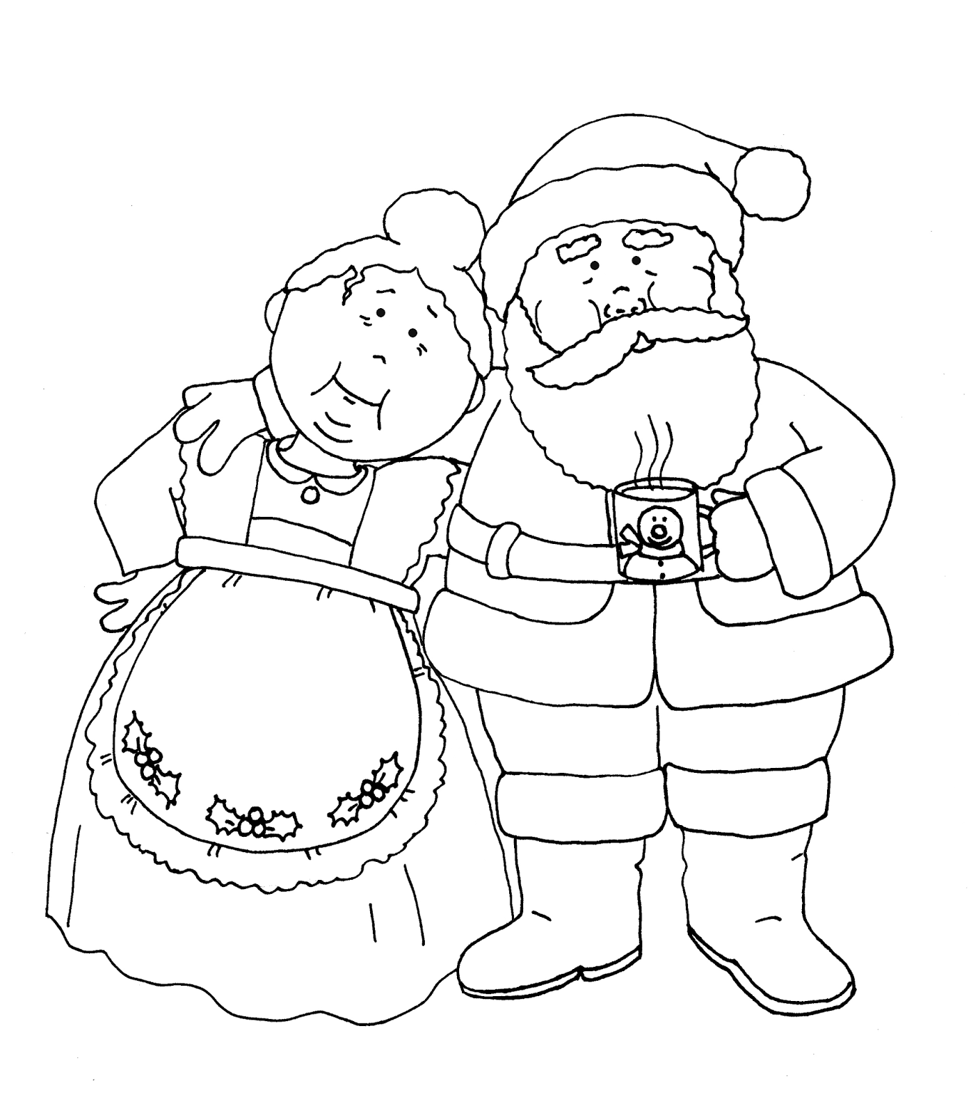 Free Dearie Dolls Digi Stamps: Santa and Mrs. Claus