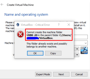cannot create the machine UUID