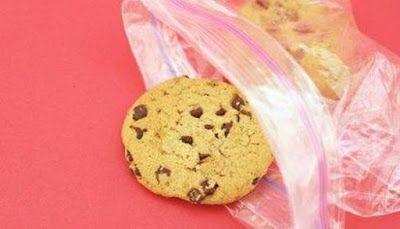 Paquete de galletas con chispas de chocolate
