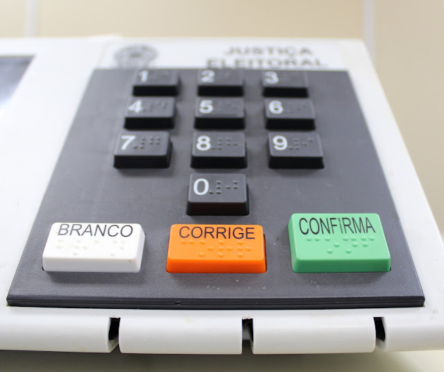 Urna eletrônica e seus botões