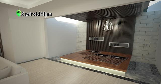 musholla rumah dengan desain berundak