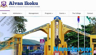 Alvan Ikoku 5th Batch Degree Admission List 2017/18 Published