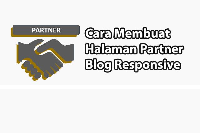 Cara Membuat Halaman Partner Blog