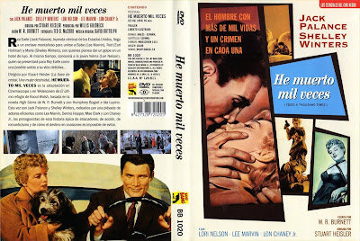 Carátula dvd: He muerto mil veces (1955) I Died a Thousand Times