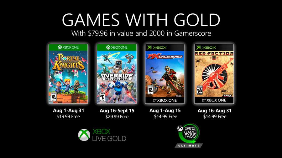 Juegos gratis Xbox Live Gold 2020