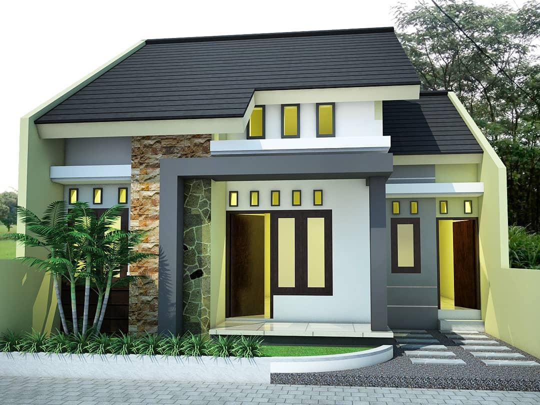 Kumpulan Desain Rumah Minimalis Dari Type 36 40 60 Sampai 90 Yang Trend Tahun Ini Homeshabby Com Design Home Plans Home Decorating And Interior Design