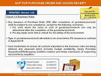 Revised Standard Operating Procedures for Purchase Order and Goods Receipt