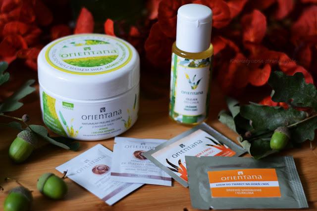 Orientana naturalny peeling do ciała jaśmin i zielona herbata, olejek do ciała jaśmin, próbki