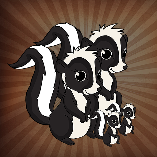 Skunk Family Escape