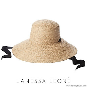 Meghan Markle wore Janessa Leone Sammy Natural Hat
