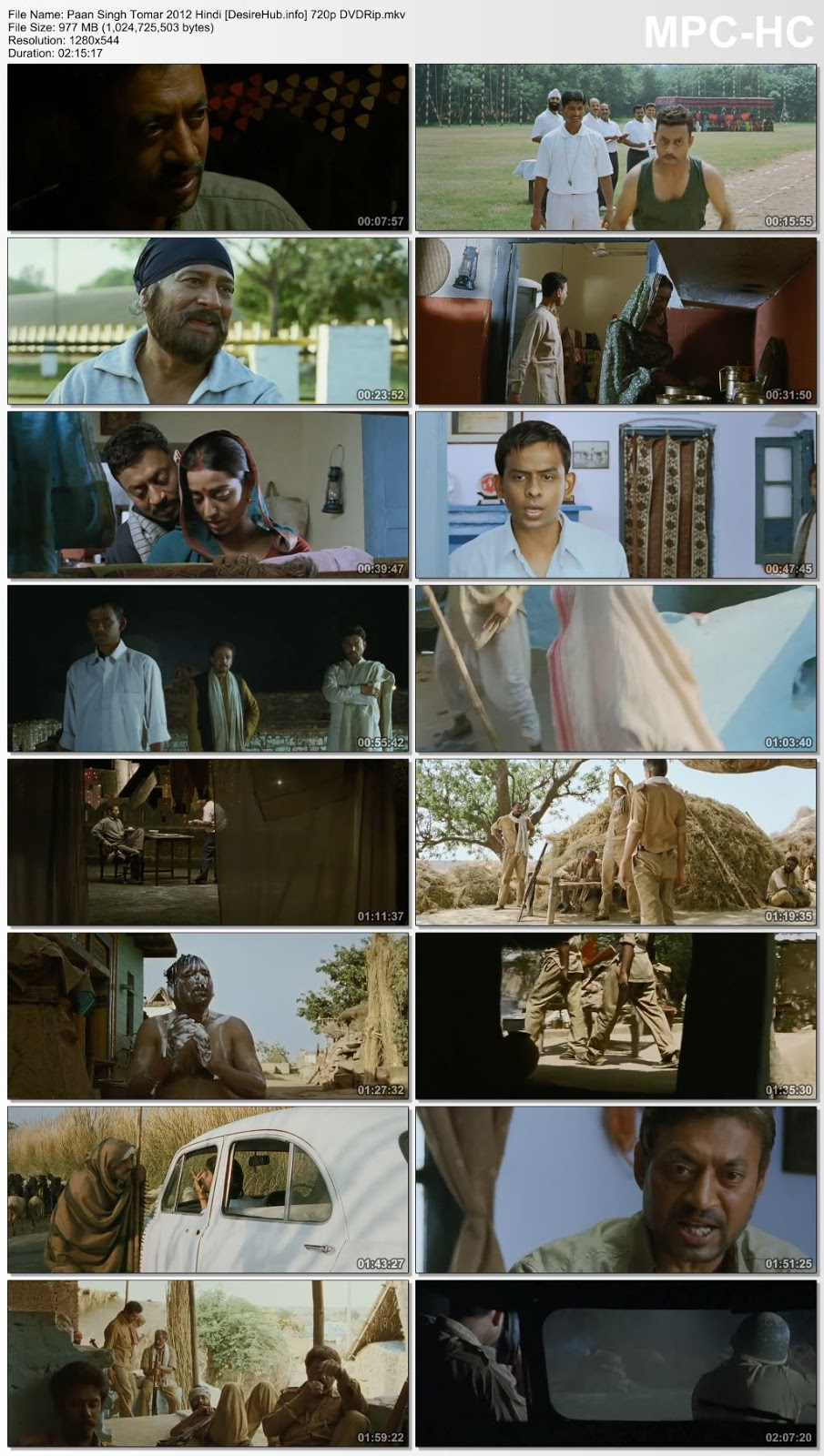 Paan Singh Tomar 2012 Hindi 480p DVDRip 350MB Desirehub