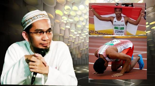 Ustaz Adi Hidayat Hadiahi Umroh untuk Pelari Muhammad Zohri dan Kedua Orang Tuanya