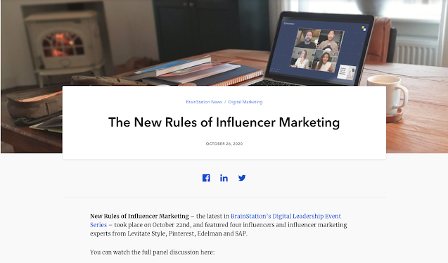 Brain Station Panel New Rules of Influencer Marketing with Leo Chan