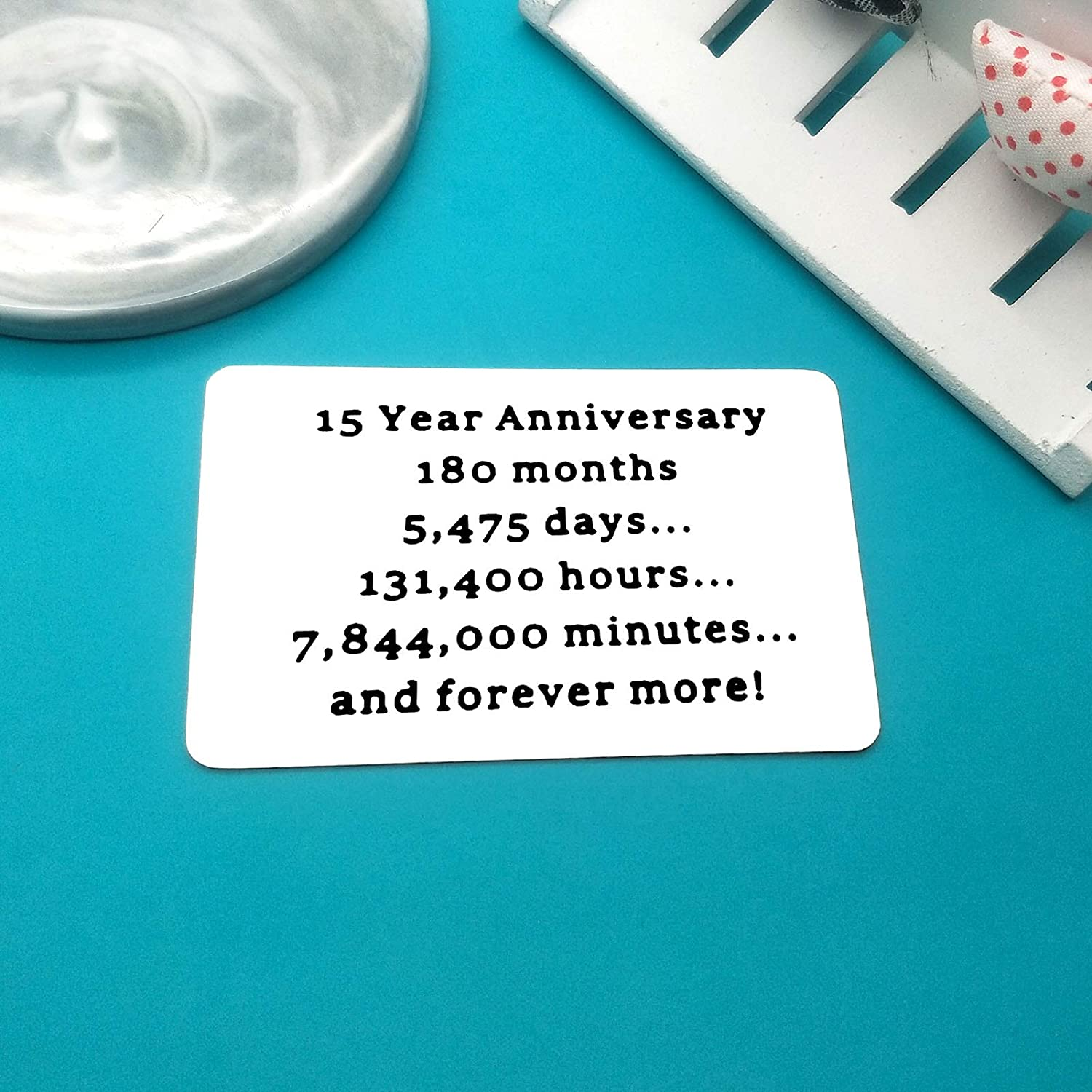 Engraved Wallet Card 15 Wedding Anniversary Gift For Husband