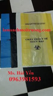 Cung cấp túi đựng rác, túi rác y tế, túi rác y tế màu vàng giá rẻ