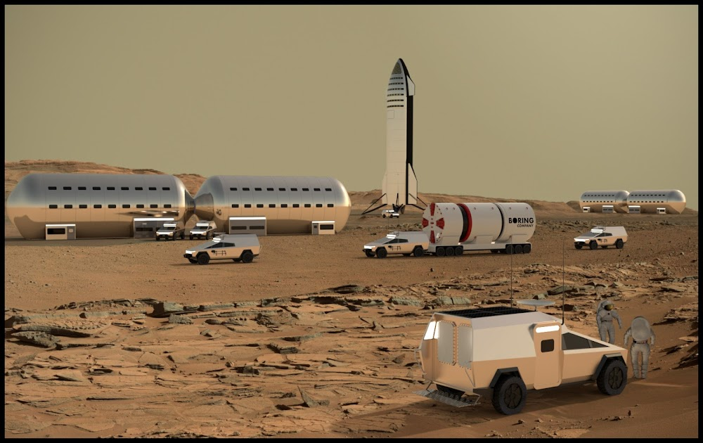 SpaceX Mars Base Alpha concept by Sotiris