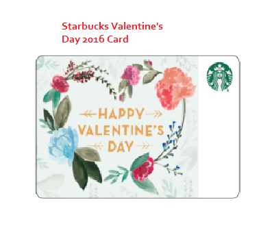 Starbucks VALENTINE'S DAY CARD