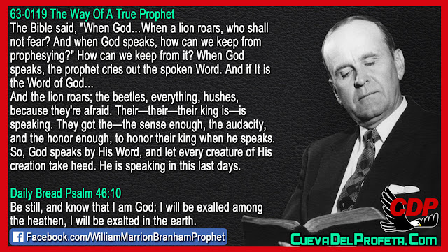 When God speaks the prophet cries out the spoken Word - William Branham Quotes