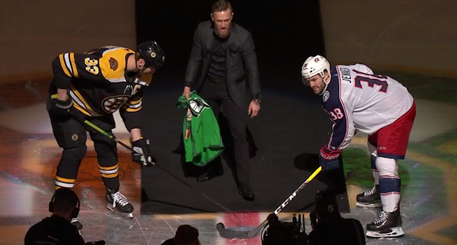 Conor McGregor drops ceremonial puck at Boston Bruins game