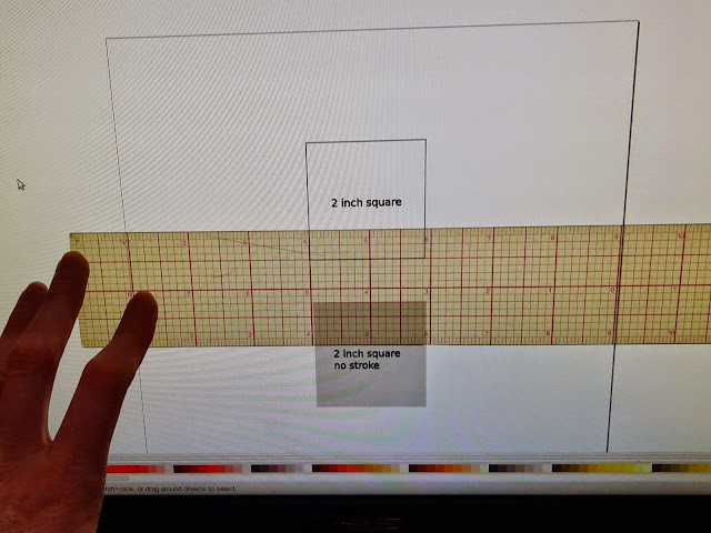 Measuring the screen version of a 2 inch square