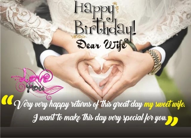birthday wishes for wife with love