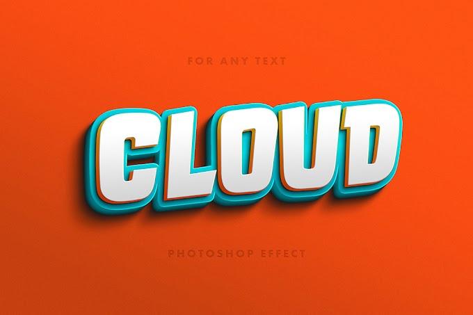 Playful 3D Text Effect PSD Free
