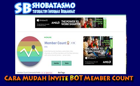 Cara Mudah Invite BOT Member Count Ke Discord