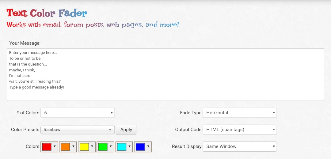 Create colour full text in website or bloggers post