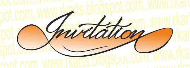 Invitation Calligraphy Title 2