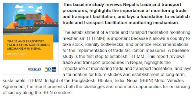 Trade and Transport Facilitation Monitoring Mechanism in Nepal: Baseline Study Publication | December 2017