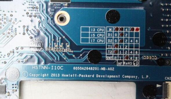 6050A2648201-MB-A02 HSTNN-I10C HP EliteBook Folio 9480m Bios