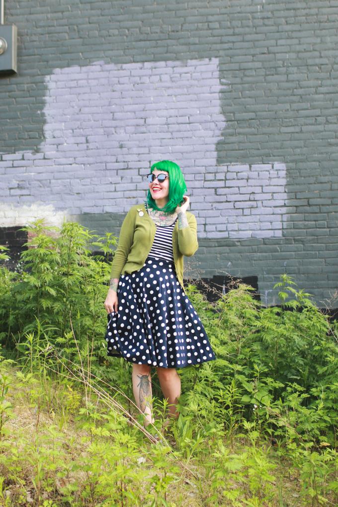Kaylah Doolan, green hair, wiw, cleveland, blogger