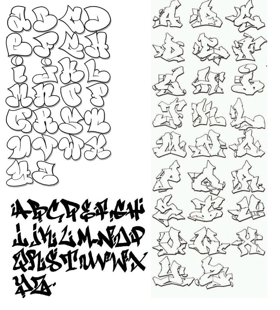 Graffiti Alphabet Letters A Z