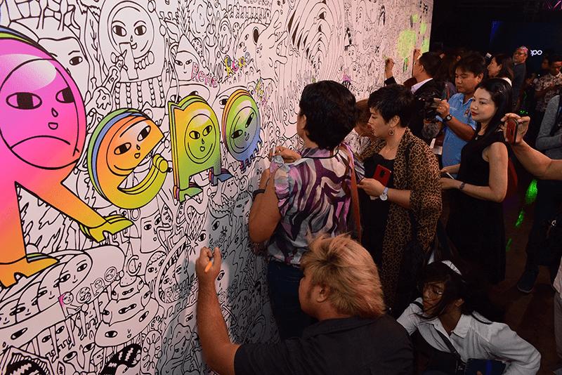 OPPO Reno Collective Pop-Art Exhibit