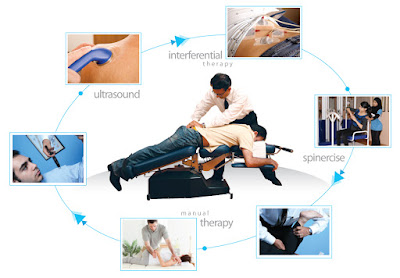Flexion-distraction therapy combined with chiroprctic