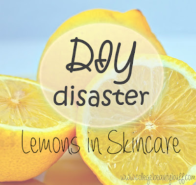 DIY Disaster: Lemons in Skincare