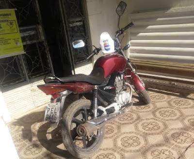 BPRv recupera motocicleta roubada em Olho D'água das Flores