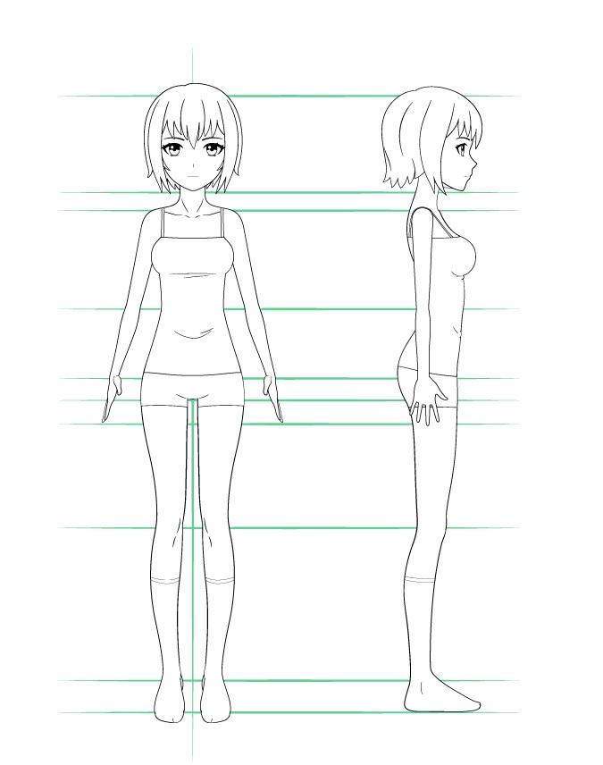 Langkah 4 - Gambar Pakaian