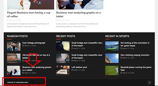 Cách gỡ bỏ dòng bản quyền ở chân trang cho theme blogger mà không bị chuyển hướng