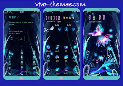 Neon Butterfly Theme For Android Vivo Smartphone