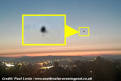 'Silent UFO' Over Swansea Amazes Witness