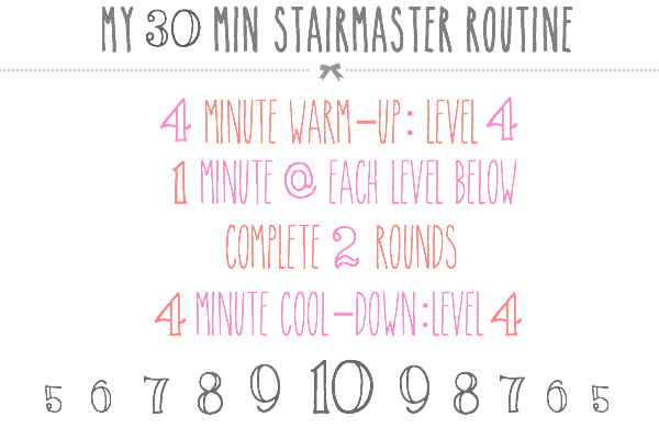 cardio workout, total body workout, workout, circuit, HIIT workout, stair master