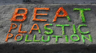 """Image of an Embedment """"Beat Plastic Pollution"""""""