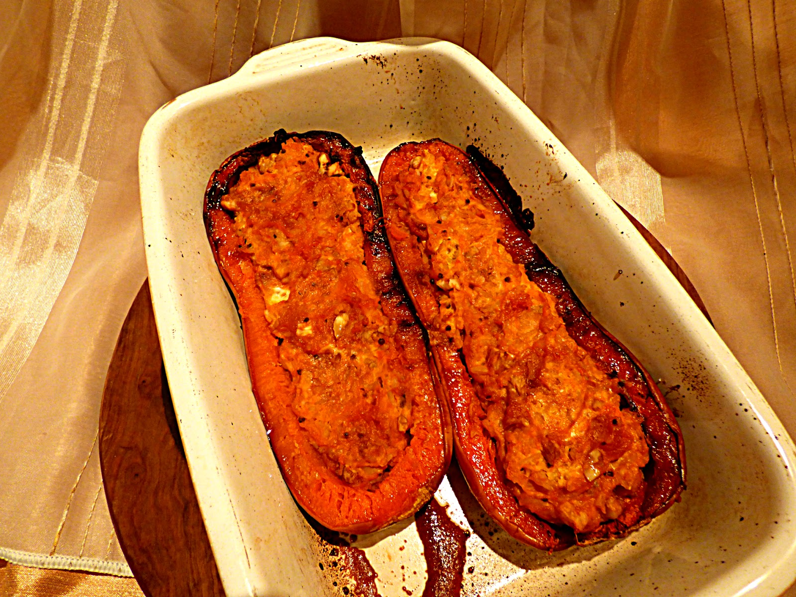 Roasted and Stuffed Butternut Squash with Brown Basmati, Quinoa & Goat ...