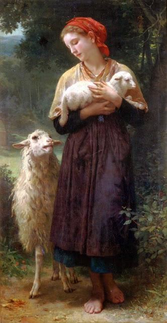 Адольф Вильям Бугро - Пастушка (1873)